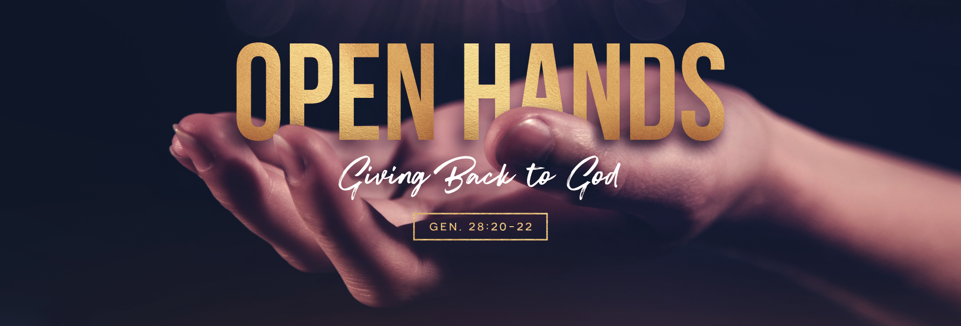 Open Hands Tithing Church Website Banner